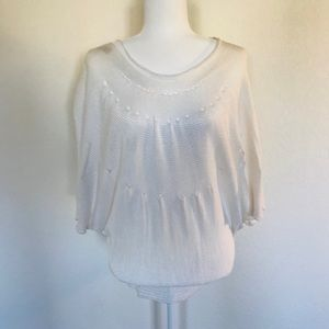Sita Murt White Blouse Size Large